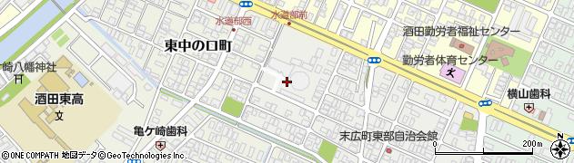 山形県酒田市末広町14周辺の地図