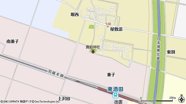 山形県酒田市土崎堰西1周辺の地図