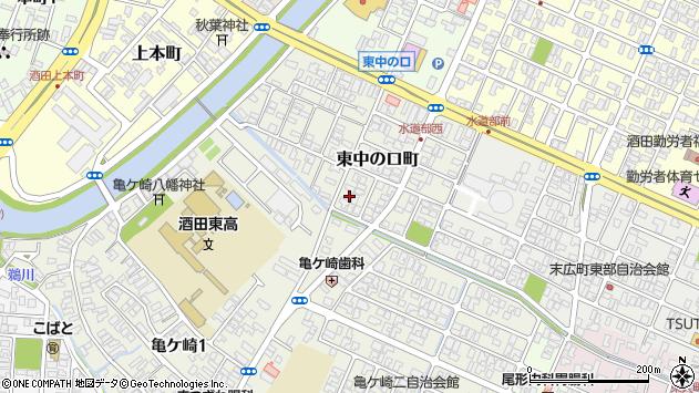 山形県酒田市東中の口町16周辺の地図