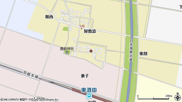 山形県酒田市土崎屋敷添16周辺の地図