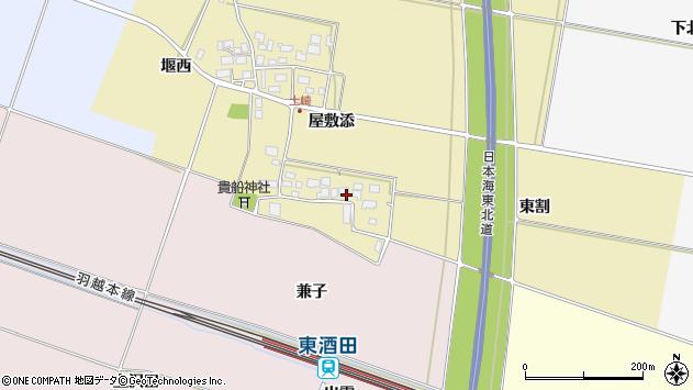 山形県酒田市土崎屋敷添11周辺の地図