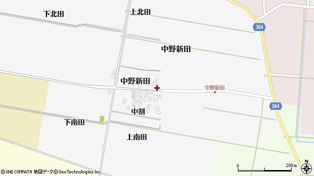 山形県酒田市中野新田中割33周辺の地図