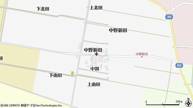 山形県酒田市中野新田中割38周辺の地図