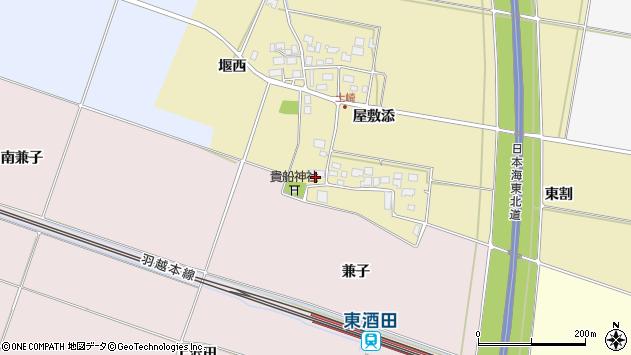 山形県酒田市土崎屋敷添30周辺の地図