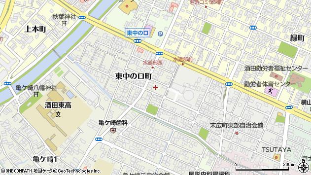 山形県酒田市東中の口町6周辺の地図