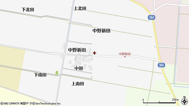 山形県酒田市中野新田中割20周辺の地図