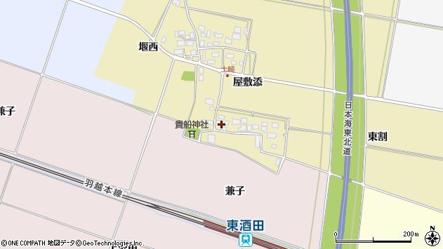 山形県酒田市土崎屋敷添23周辺の地図