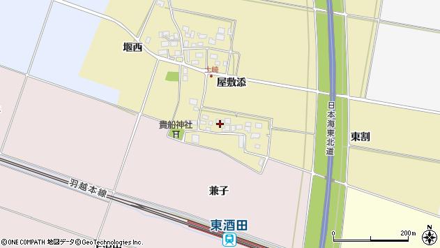山形県酒田市土崎屋敷添20周辺の地図