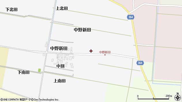 山形県酒田市中野新田中割8周辺の地図