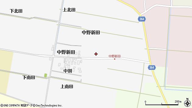 山形県酒田市中野新田中割9周辺の地図