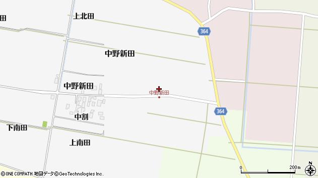 山形県酒田市中野新田中割4周辺の地図