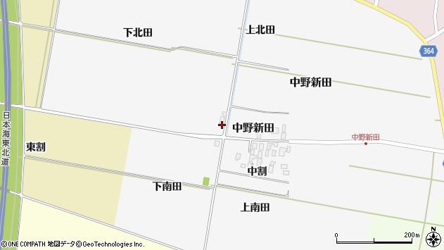山形県酒田市中野新田下北田周辺の地図