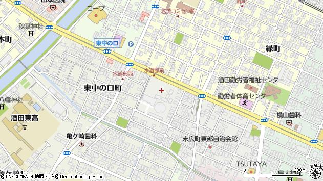 山形県酒田市末広町1周辺の地図