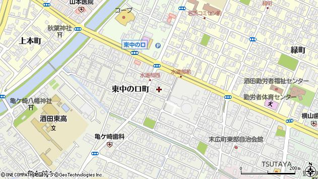 山形県酒田市東中の口町5周辺の地図