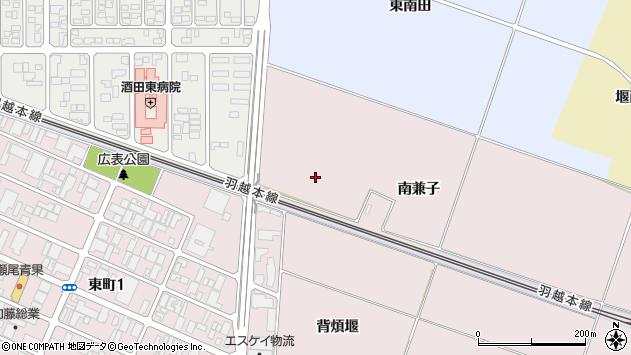 山形県酒田市大町南兼子周辺の地図