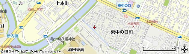 山形県酒田市東中の口町14周辺の地図