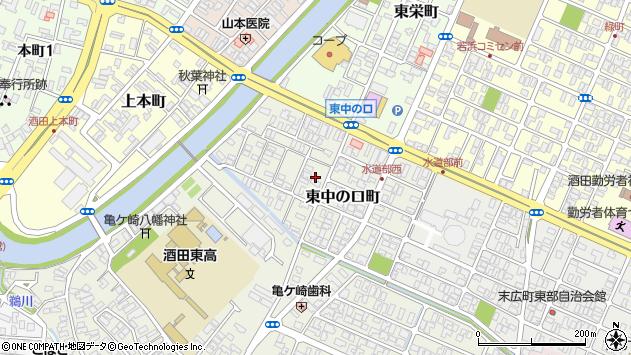 山形県酒田市東中の口町9周辺の地図