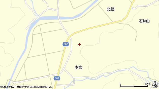 山形県酒田市北俣石鉢山98周辺の地図