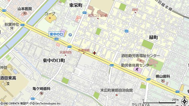 山形県酒田市若浜町16周辺の地図