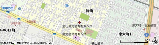 山形県酒田市緑町14周辺の地図
