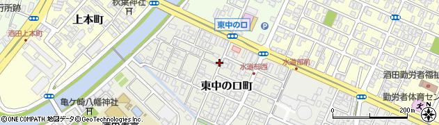 山形県酒田市東中の口町2-16周辺の地図