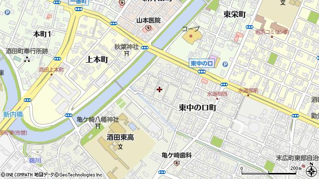 山形県酒田市東中の口町11周辺の地図