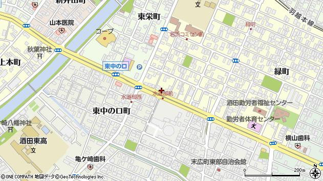 山形県酒田市若浜町15周辺の地図