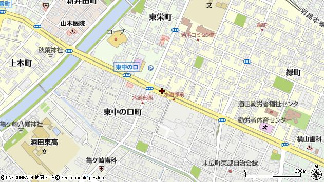 山形県酒田市若浜町14周辺の地図
