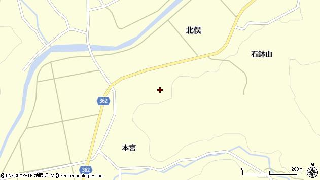 山形県酒田市北俣石鉢山105周辺の地図