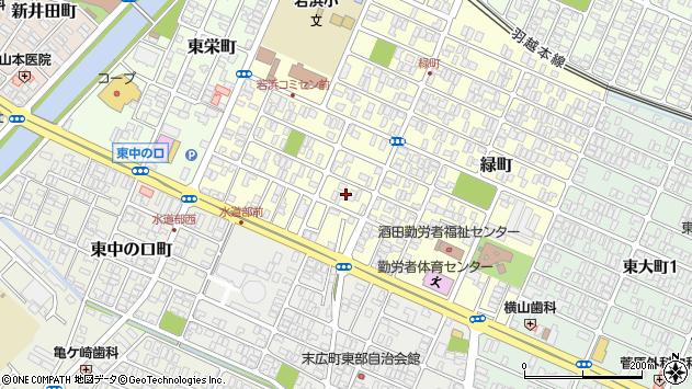 山形県酒田市若浜町12周辺の地図
