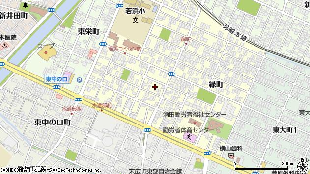 山形県酒田市若浜町11周辺の地図