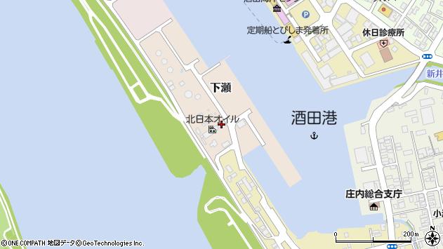 山形県酒田市下瀬1周辺の地図