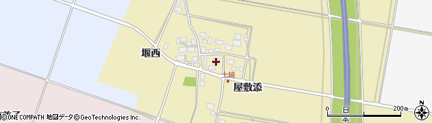 山形県酒田市土崎屋敷添39周辺の地図