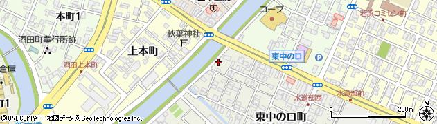 山形県酒田市東中の口町1周辺の地図