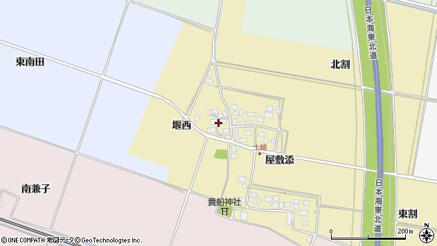 山形県酒田市土崎堰西周辺の地図