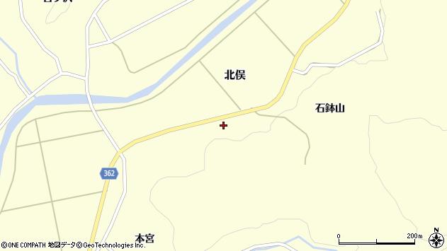 山形県酒田市北俣石鉢山59周辺の地図