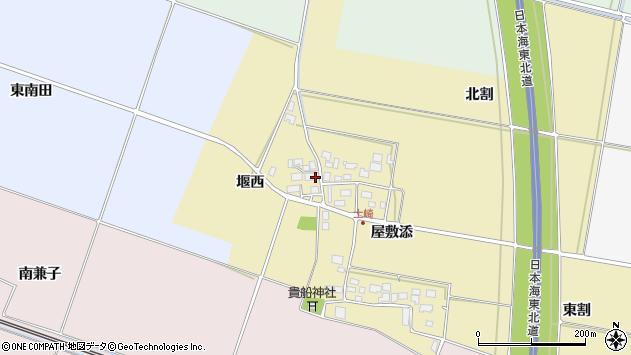 山形県酒田市土崎周辺の地図