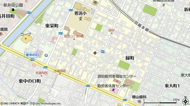 山形県酒田市若浜町7周辺の地図