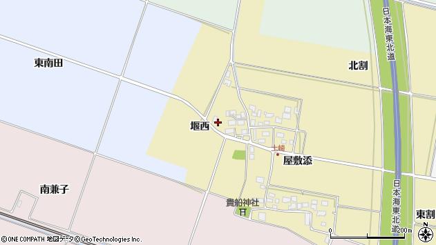 山形県酒田市土崎堰西29周辺の地図
