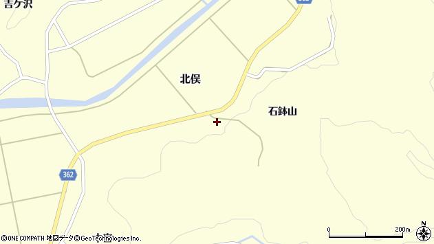 山形県酒田市北俣石鉢山55周辺の地図