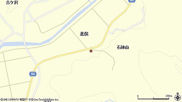 山形県酒田市北俣石鉢山56周辺の地図