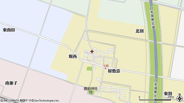 山形県酒田市土崎堰西22周辺の地図