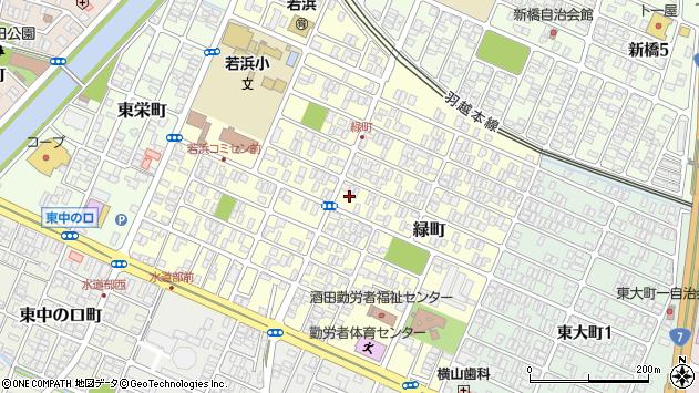 山形県酒田市緑町10周辺の地図