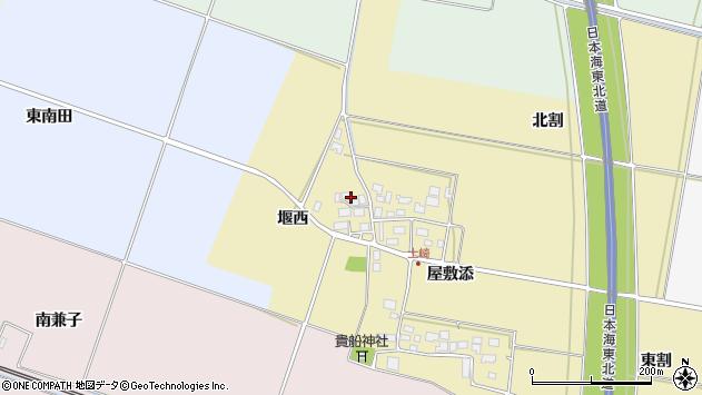 山形県酒田市土崎堰西24周辺の地図