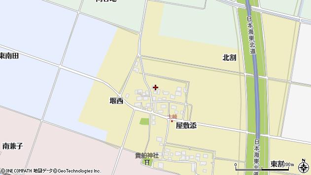 山形県酒田市土崎屋敷添73周辺の地図