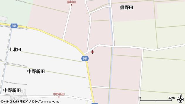 山形県酒田市熊野田前新田周辺の地図