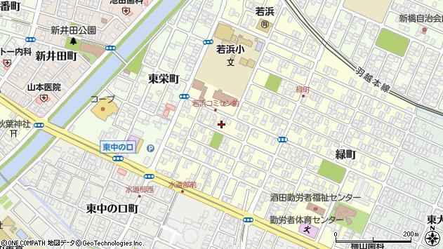 山形県酒田市若浜町8周辺の地図