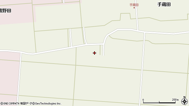 山形県酒田市手蔵田塚田周辺の地図