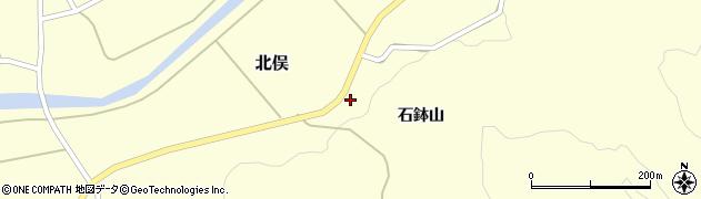 山形県酒田市北俣石鉢山52周辺の地図