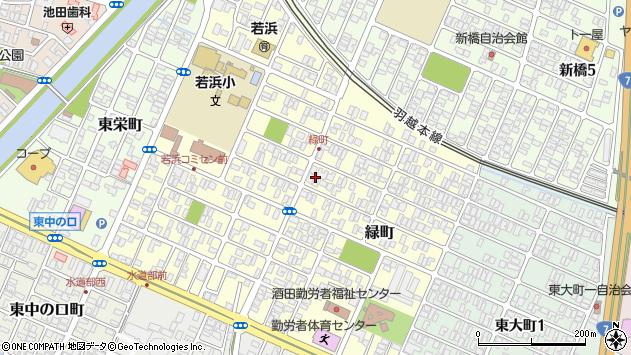 山形県酒田市緑町7周辺の地図